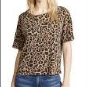 Chico's  Cheetah Print Short Sleeve Sweater L